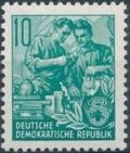 Germany DDR 1953 Workers For The Five-year Plan e