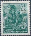 Germany DDR 1953 Workers For The Five-year Plan k