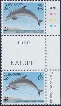 Guernsey 1990 WWF Marine Life l