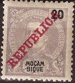 Mozambique 1911 D. Carlos I Overprinted e