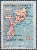 Mozambique 1954 Map of Mozambique f