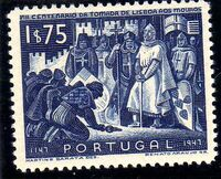 Portugal 1947 800th Anniversary of the recapture of Lisboa from the Moor d