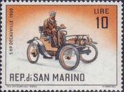 San Marino 1962 Automobiles (pre-1910) f