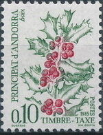 Andorra-French 1985 Flowers (Postage Due Stamps) a
