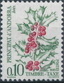 Andorra-French 1985 Flowers (Postage Due Stamps) a.jpg