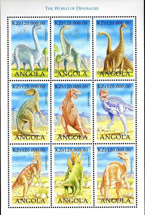 Angola 1998 Prehistoric Animals (2nd Group) Sa