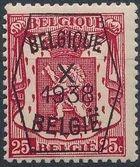 Belgium 1938 Coat of Arms - Precancel (10th Group) c