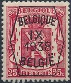 Belgium 1938 Coat of Arms - Precancel (9th Group) c