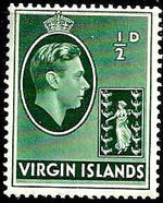 British Virgin Islands 1938 George VI and Seal of the Colony a