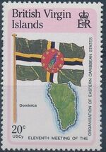 British Virgin Islands 1987 11th Meeting of the Organization of Eastern Caribbean States c