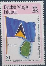 British Virgin Islands 1987 11th Meeting of the Organization of Eastern Caribbean States h