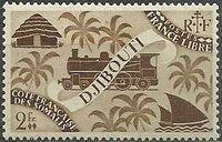 French Somali Coast 1943 Locomotive and Palms i
