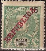 Mozambique 1911 D. Carlos I Overprinted d