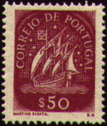 Portugal 1943 Portuguese Caravel (1st Issue) g