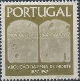 Portugal 1967 1st Centenary of the Abolition of the Death Penalty a