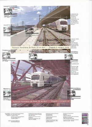 Portugal 1999 Inauguration of Rail Link Over 25th of April Bridge n