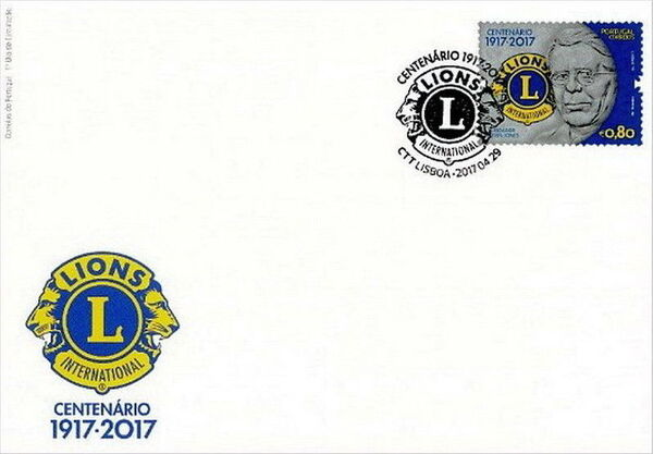 Portugal 2017 100 Years of Service of Lions Clubs International FDCa