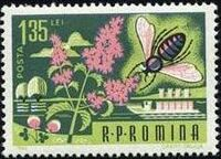 Romania 1963 Bees & Silk Worms f