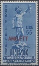 Trieste-Zone A 1950 5th General Conference of UNESCO b