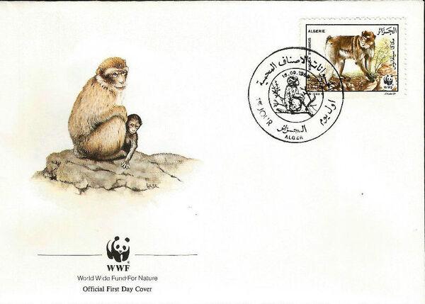 Algeria 1988 WWF - Barbary Macaque FDCa