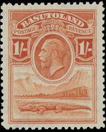 Basutoland 1933 George V, Crocodile and River Scene g