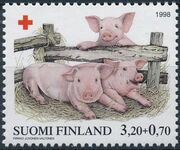 Finland 1998 Red Cross Fund - Pigs b