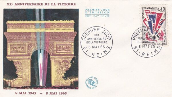 France 1965 20th Anniversary of Victory in World War II FDCb