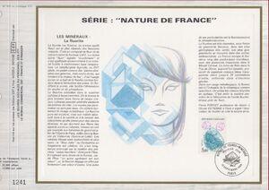 France 1986 Minerals FOLh
