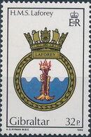 Gibraltar 1986 Royal Navy Crests 5th Group c