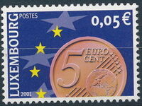 Luxembourg 2001 Euro-Coins a