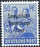 Russian Zone 1948 Overprint - Sowjetische Besatzungs Zone m