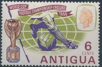 Antigua 1966 World Cup Soccer a