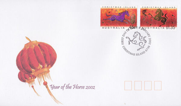 Christmas Island 2002 Year of the Horse r