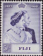 Fiji 1948 Silver Wedding of King George VI & Queen Elizabeth b
