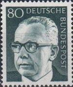 Germany, Federal Republic 1971 President Gustav Heinemann (4th Group) d