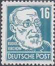 Germany DDR 1952 Famous People f