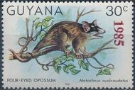 Guyana 1985 Wildlife (Overprinted 1985) k