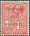 Malta 1928 George V and Coat of Arms Ovpt POSTAGE AND REVENUE c.jpg
