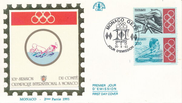 Monaco 1993 101st Session International Olympic Committee FDCc