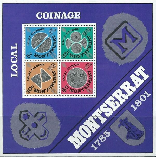 Montserrat 1975 Old Local Coinage (1785-1801) h