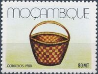 Mozambique 1988 Basketry - Local Crafts c