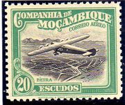 Mozambique Company 1935 Inauguration of the Airmail (2nd Issue) o