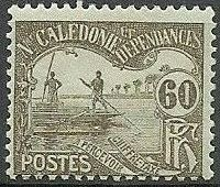 New Caledonia 1906 Men Poling (Postage due Stamps) g