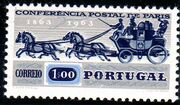 Portugal 1963 100th Anniversary of the 1st International Mail Conference a
