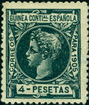 Spanish Guinea 1905 Alfonso XIII n