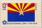 United States of America 1976 American Bicentennial - Flags of 50 States zv