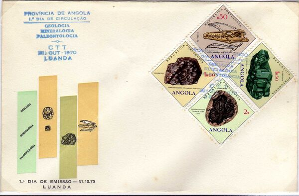 Angola 1970 Fossils and Minerals from Angola o