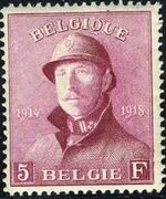 Belgium 1919 King Albert in Trench Helmet m