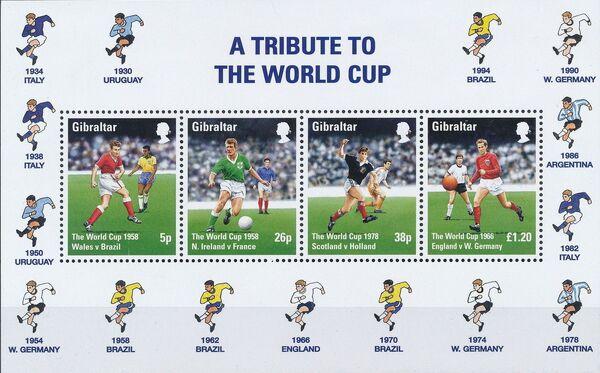 Gibraltar 1998 Football World Cup - France k