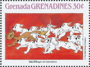 Grenada Grenadines 1988 The Disney Animal Stories in Postage Stamps 3f